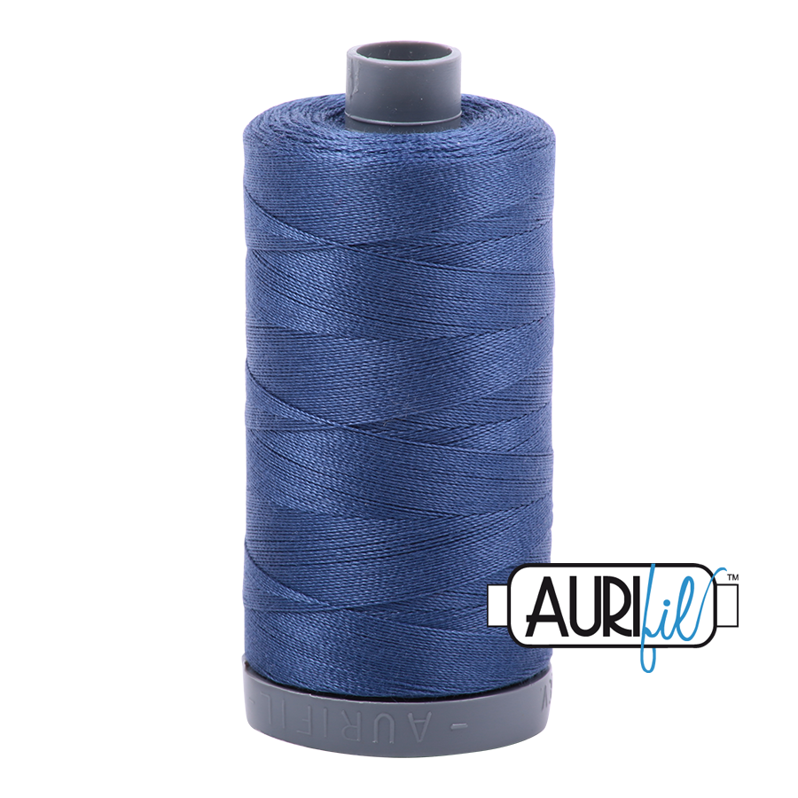 Col. #2775 Steel Blue - Aurifil 28 Weight