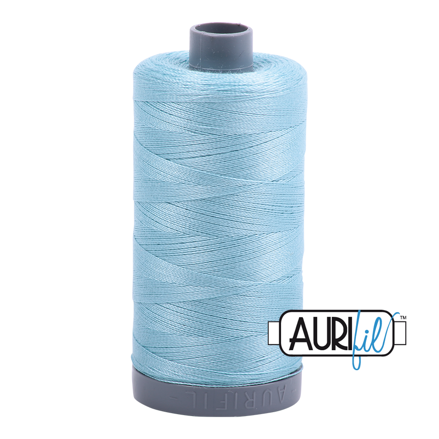 Col. #2805 Light Grey Turquoise - Aurifil 28 Weight