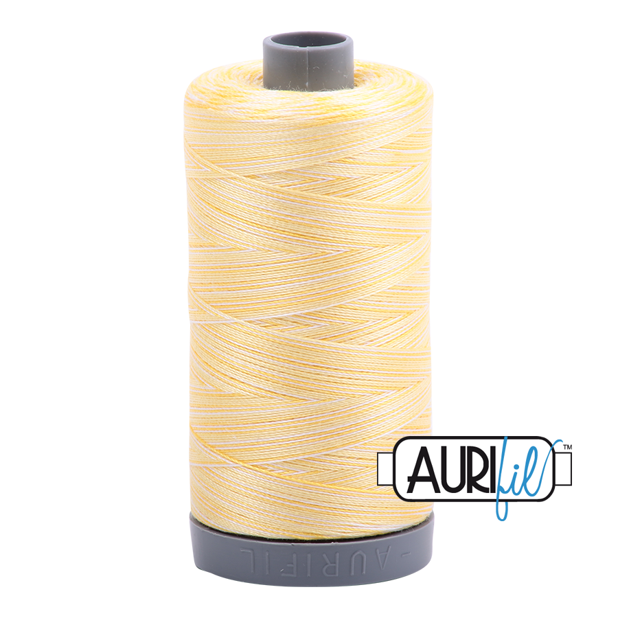 Col. #3910 Lemon Ice - Aurifil 28 Weight