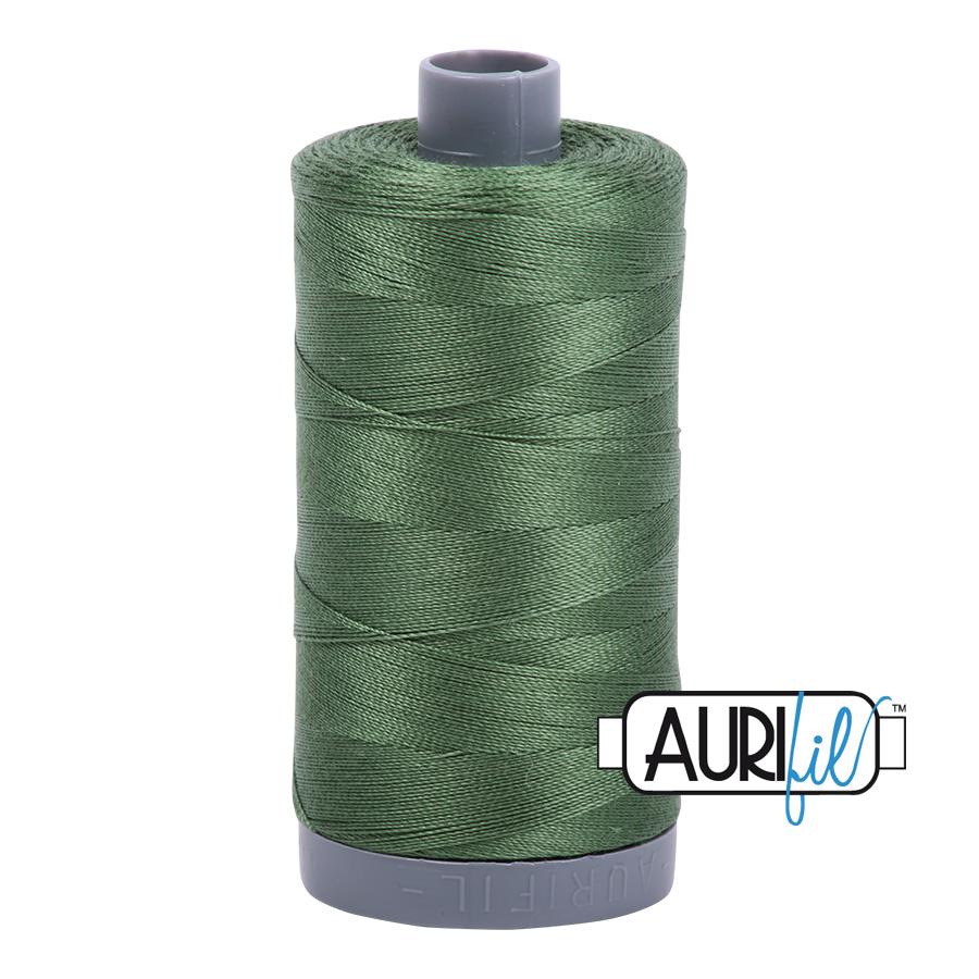 Col. #2890 Very Dark Grass Green - Aurifil 28 Weight