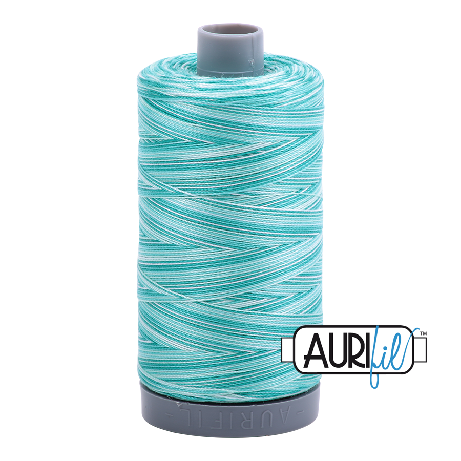Col. #4654 Turquoise Foam - Aurifil 28 Weight