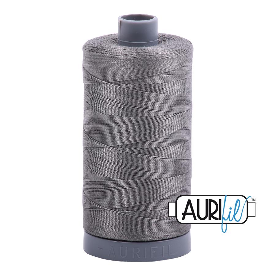 Col. #5004 Grey Smoke - Aurifil 28 Weight