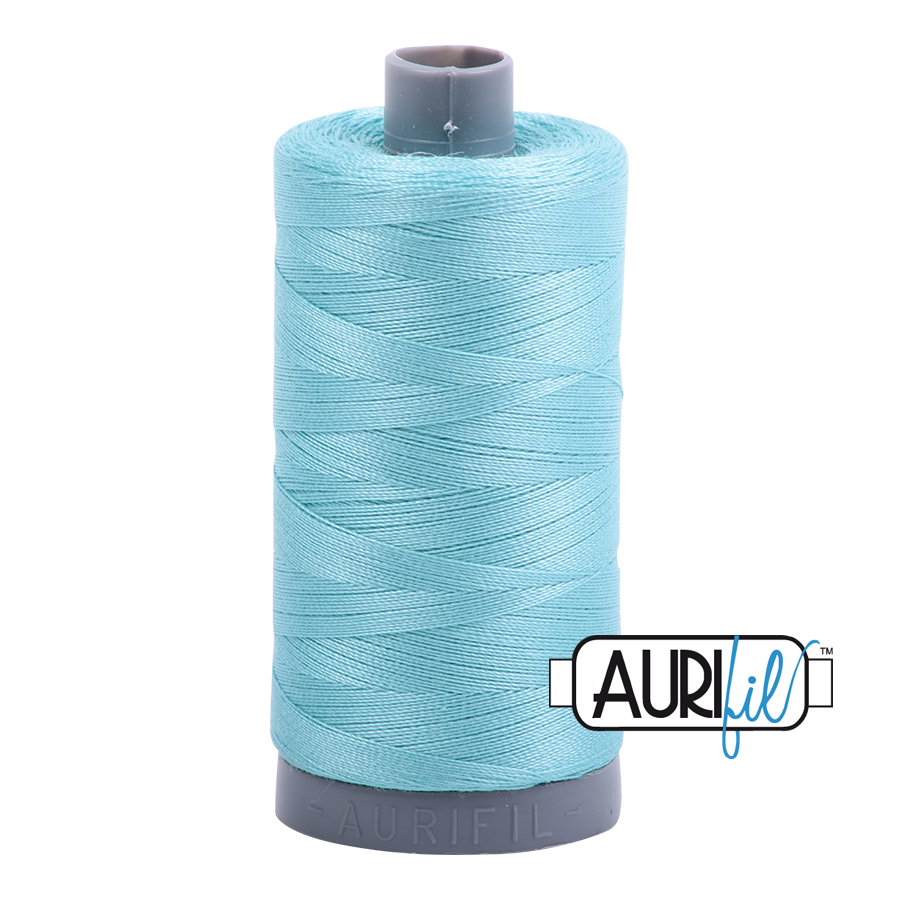 Col. #5006 Light Turquoise - Aurifil 28 Weight