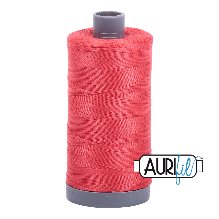 Col. #5002 Medium Red - Aurifil 28 Weight
