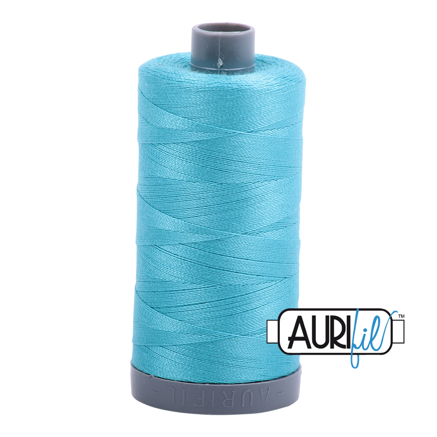 Col. #5005 Bright Turquoise - Aurifil 28 Weight