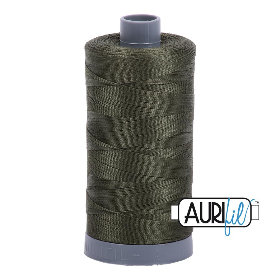 Col. #5012 Dark Green - Aurifil 28 Weight