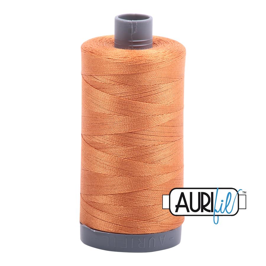 Col. #5009 Medium Orange - Aurifil 28 Weight