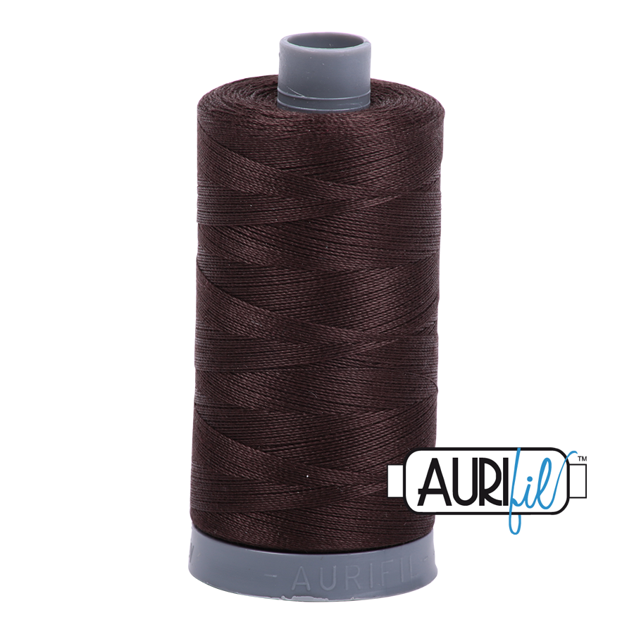 Col. #5024 Dark Brown - Aurifil 28 Weight