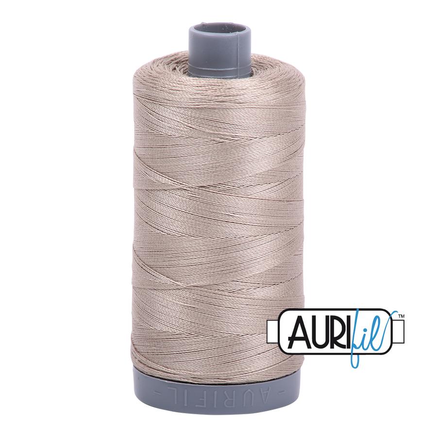 Col. #5011 Rope Beige - Aurifil 28 Weight