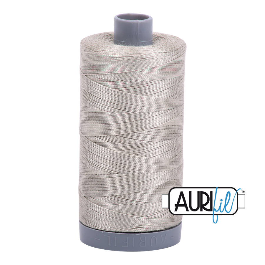 Col. #5021 Light Grey - Aurifil 28 Weight