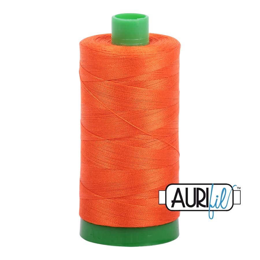 Col. #1104 Neon Orange - Aurifil 40 Weight