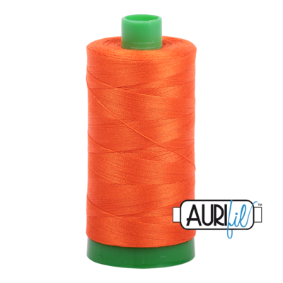 Col. #1104 Neon Orange - Aurifil 40 Weight