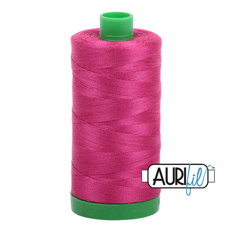 Col. #1100 Red Plum - Aurifil 40 Weight
