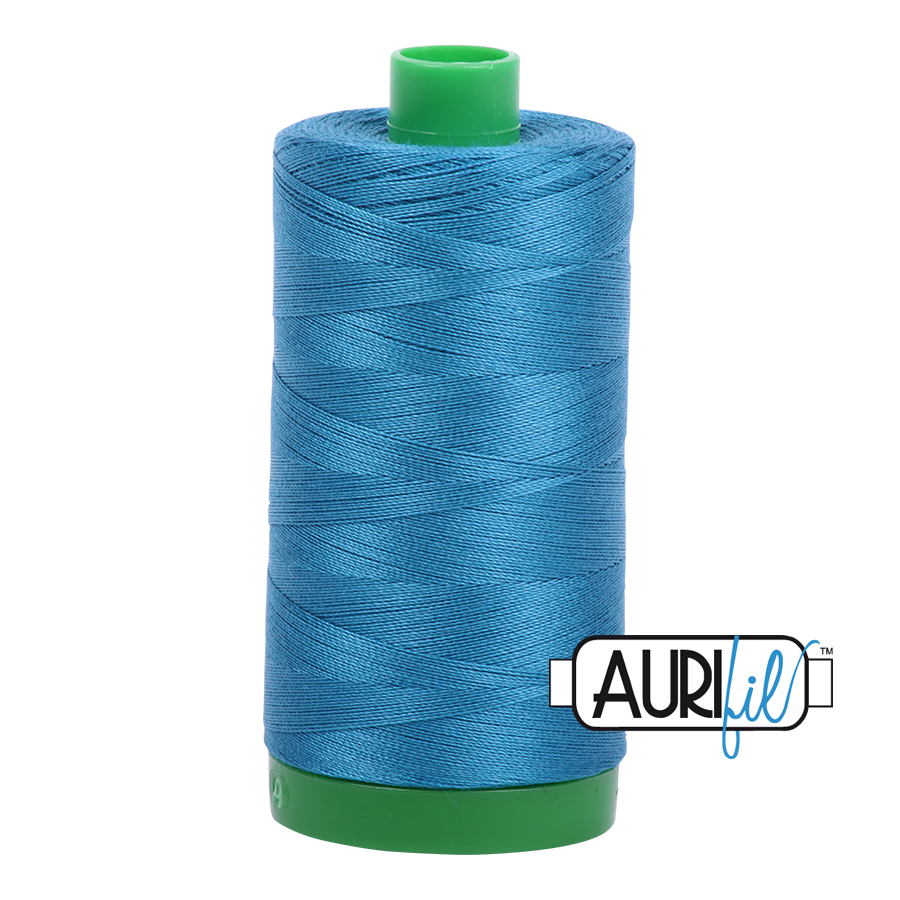 Col. #1125 Medium Teal - Aurifil 40 Weight