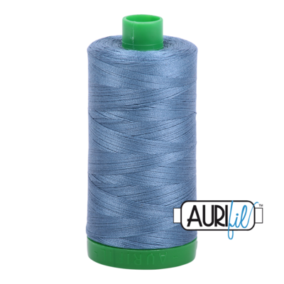 Col. #1126 Blue Grey - Aurifil 40 Weight