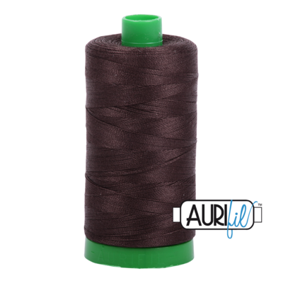 Col. #1130 Very Dark Bark - Aurifil 40 Weight