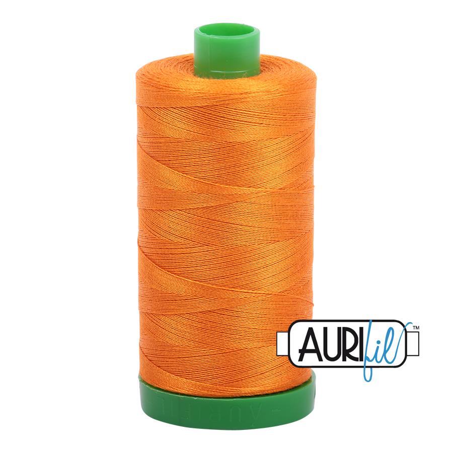 Col. #1133 Bright Orange - Aurifil 40 Weight