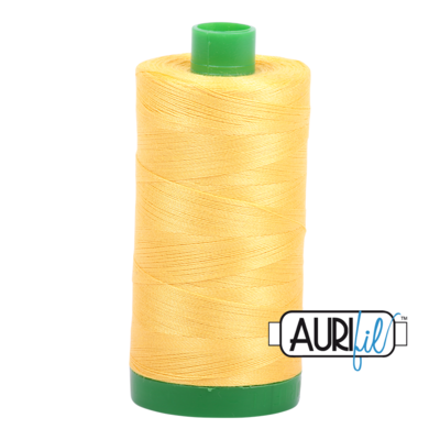 Col. #1135 Pale Yellow - Aurifil 40 Weight