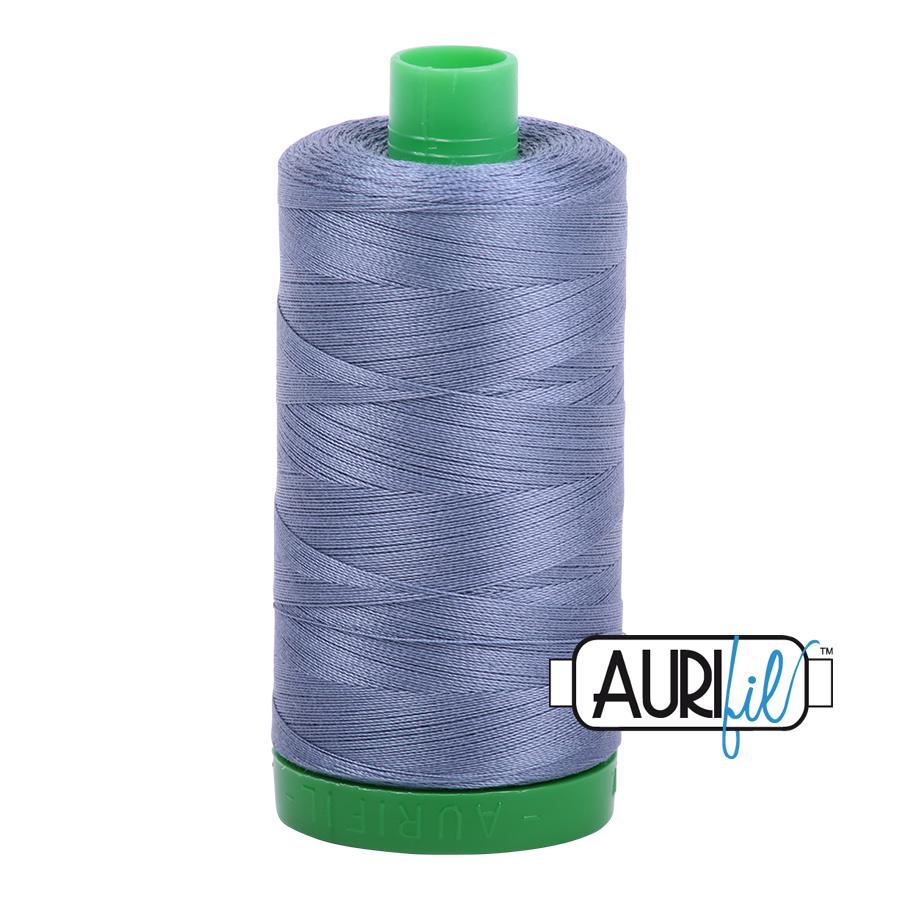 Col. #1248 Dark Grey Blue - Aurifil 40 Weight