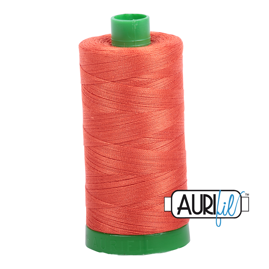 Col. #1154 Dusty Orange - Aurifil 40 Weight