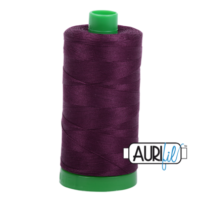 Col. #1240 Very Dark Eggplant - Aurifil 40 Weight
