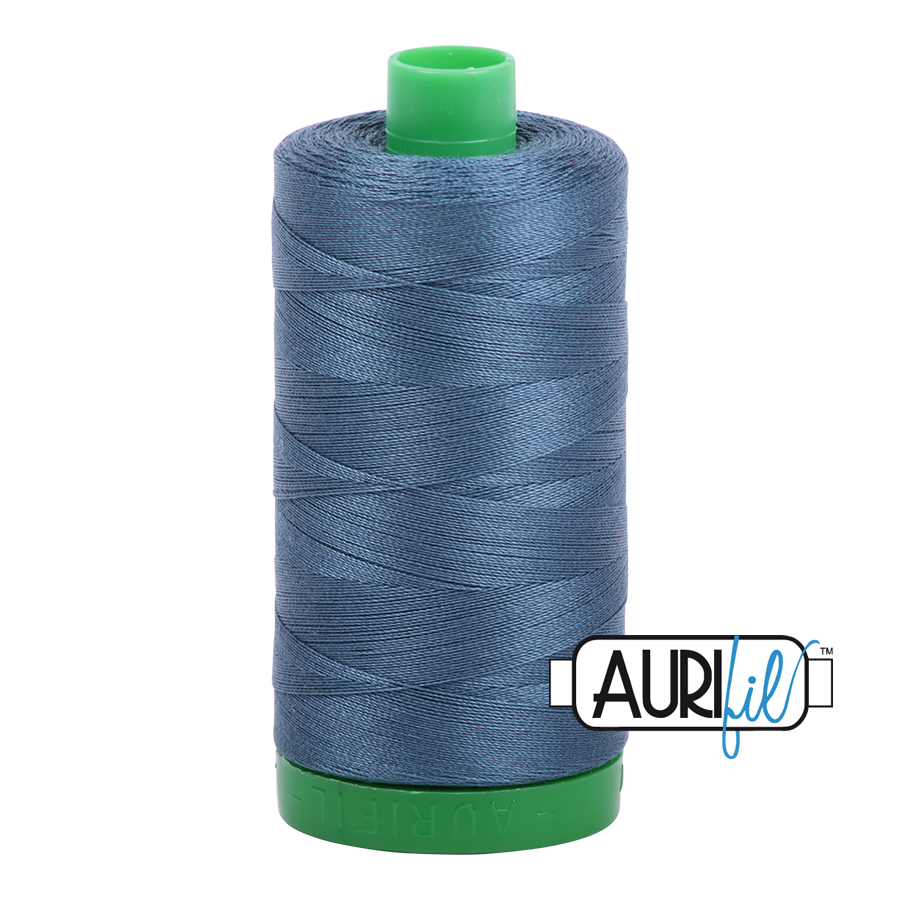 Col. #1310 Medium Blue Grey - Aurifil 40 Weight
