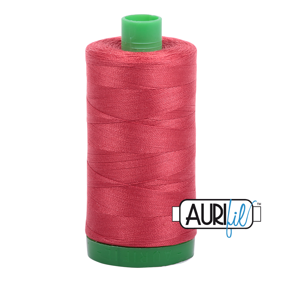 Col. #2230 Red Peony - Aurifil 40 Weight