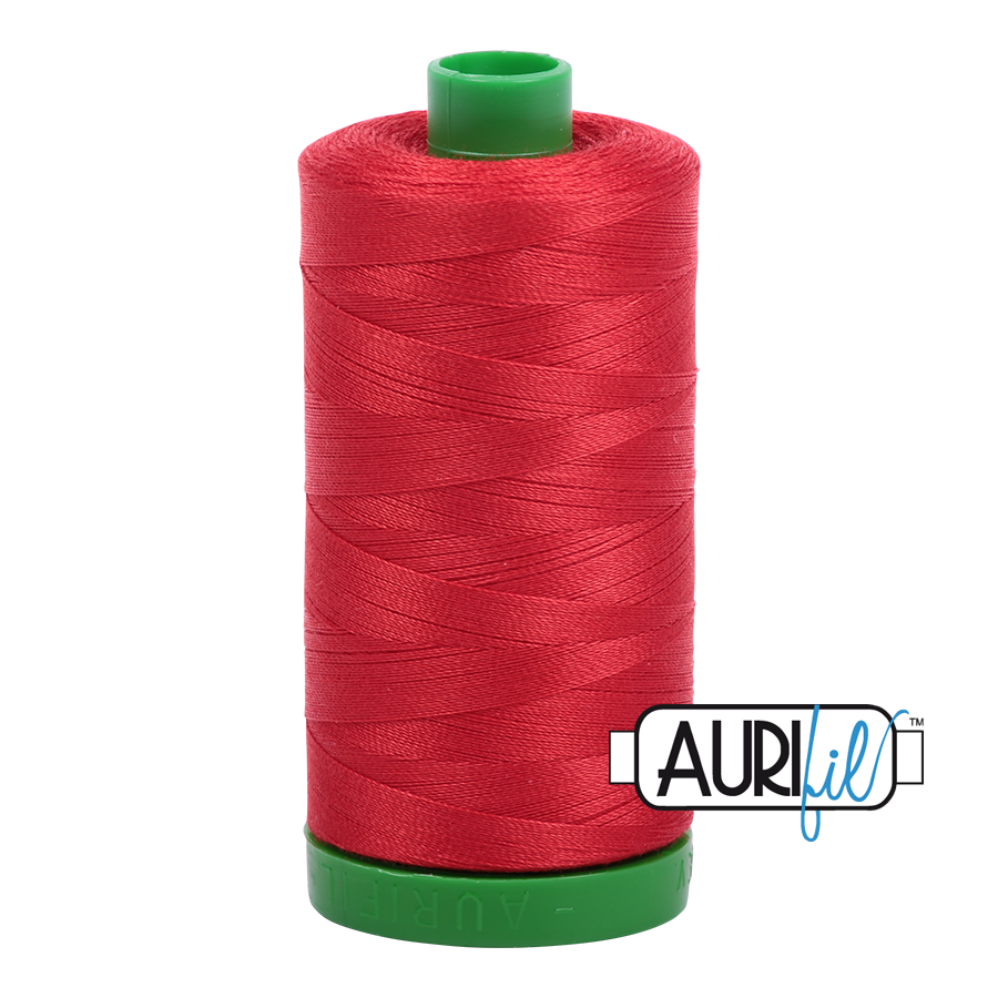 Col. #2265 Lobster Red - Aurifil 40 Weight