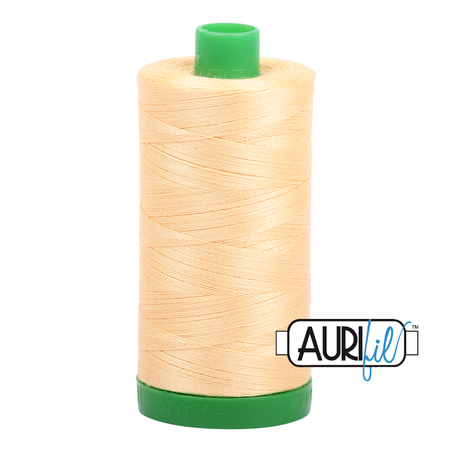 Col. #2130 Medium Butter - Aurifil 40 Weight