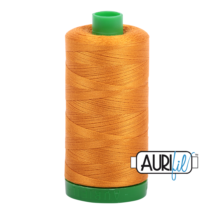 Col. #2145 Yellow Orange - Aurifil 40 Weight