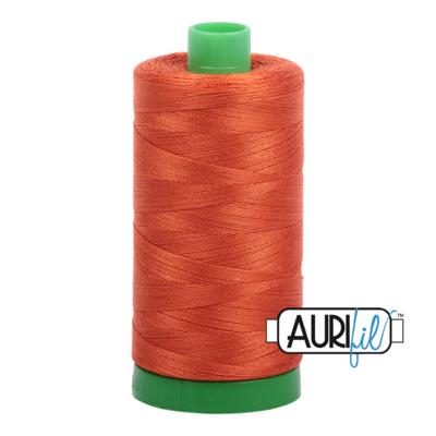 Col. #2240 Rusty Orange - Aurifil 40 Weight