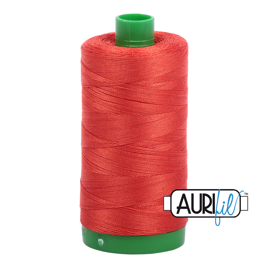 Col. #2245 Red Orange - Aurifil 40 Weight