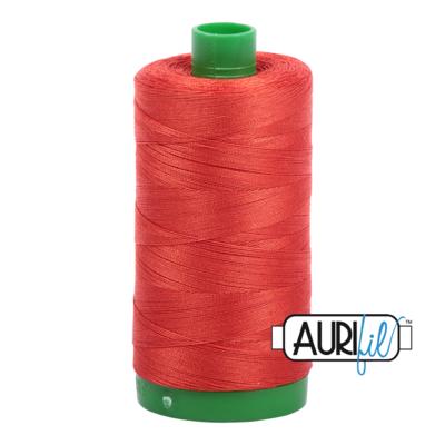 Col. #2245 Red Orange - Aurifil 40 Weight