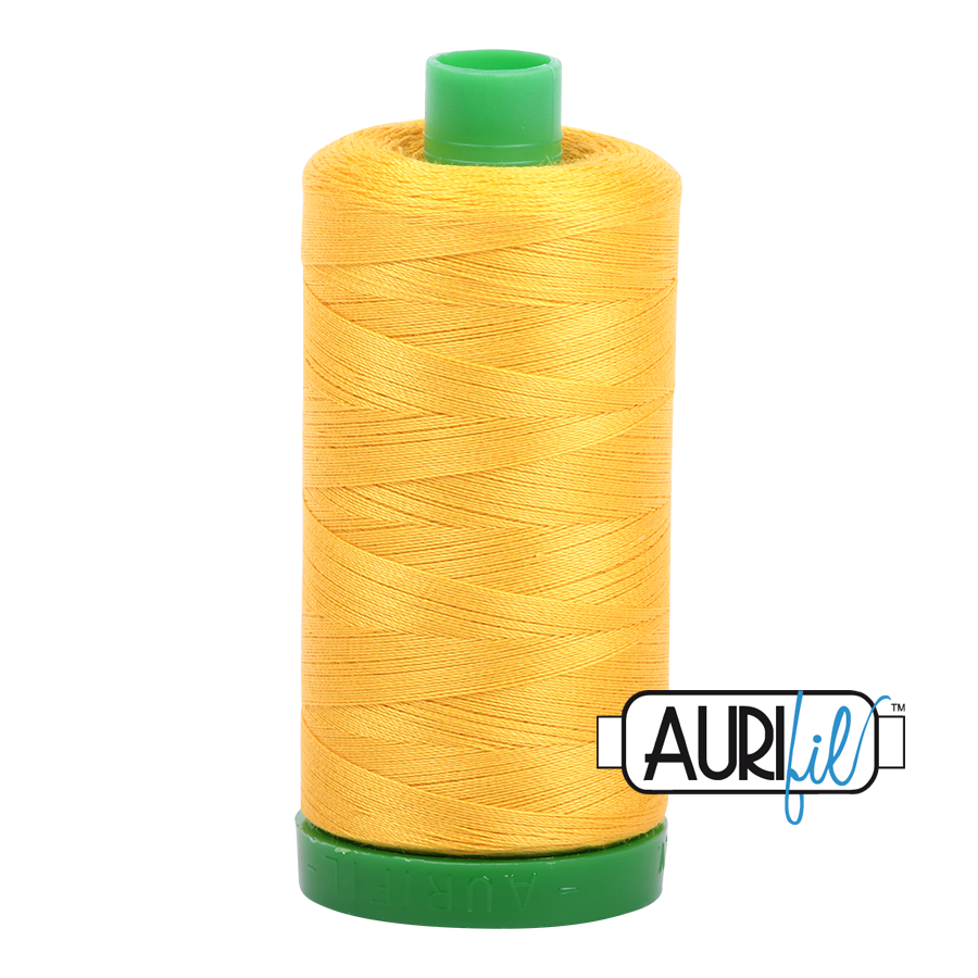 Col. #2135 Yellow - Aurifil 40 Weight