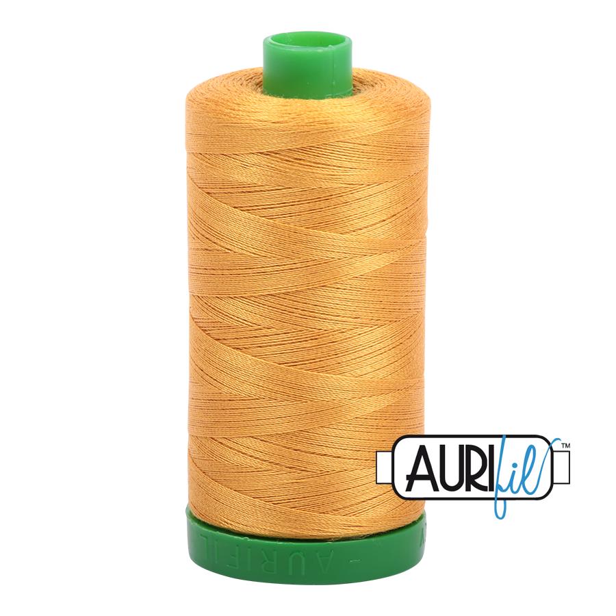 Col. #2140 Orange Mustard - Aurifil 40 Weight
