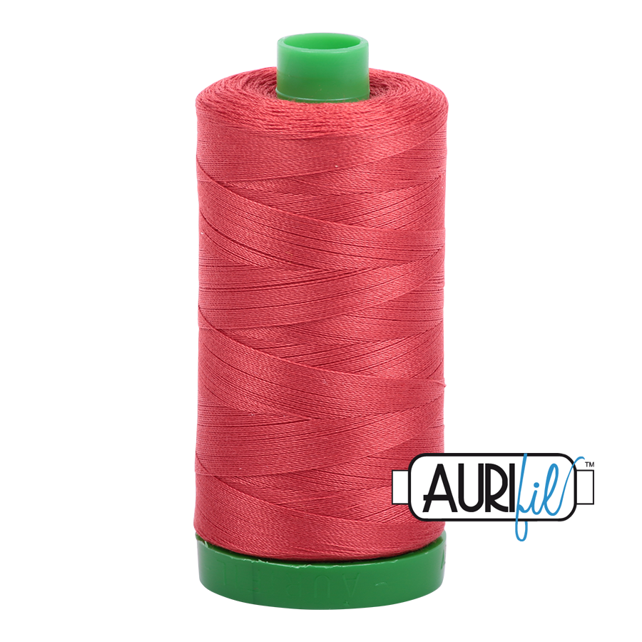 Col. #2255 Dark Red Orange - Aurifil 40 Weight