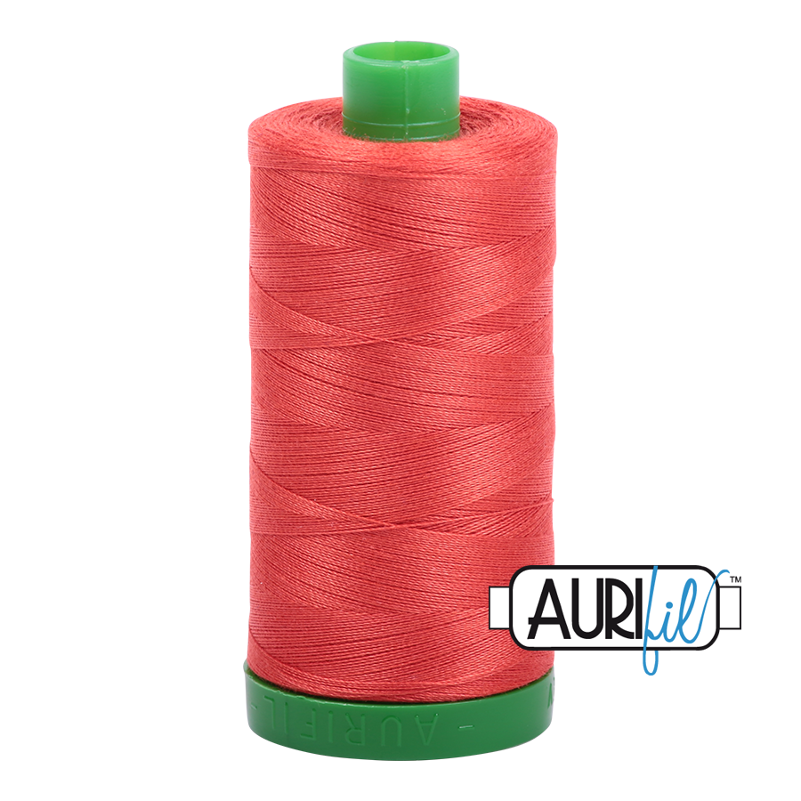 Col. #2277 Light Red Orange - Aurifil 40 Weight