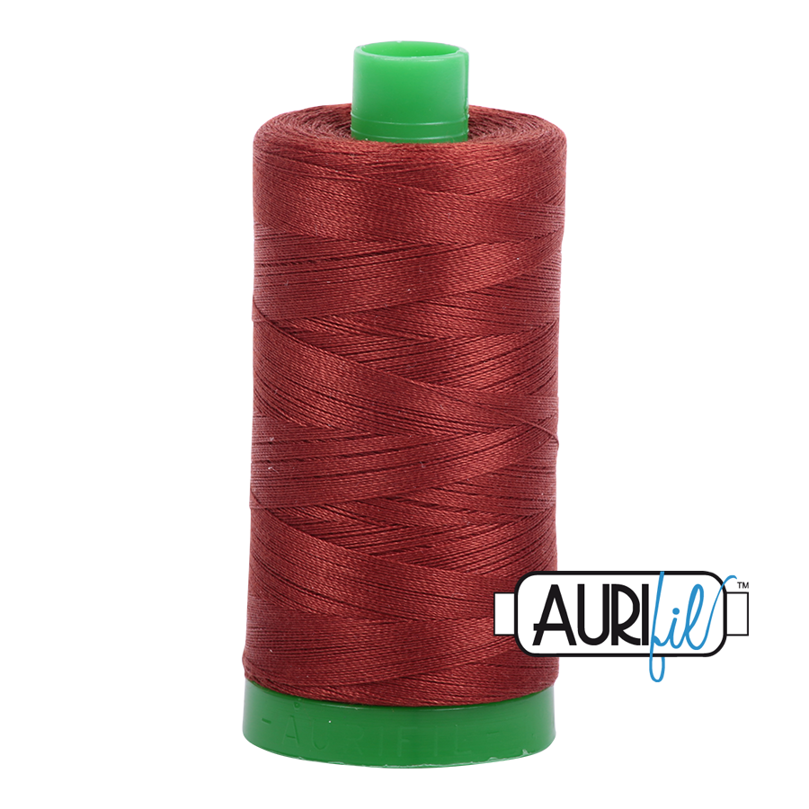 Col. #2355 Rust - Aurifil 40 Weight