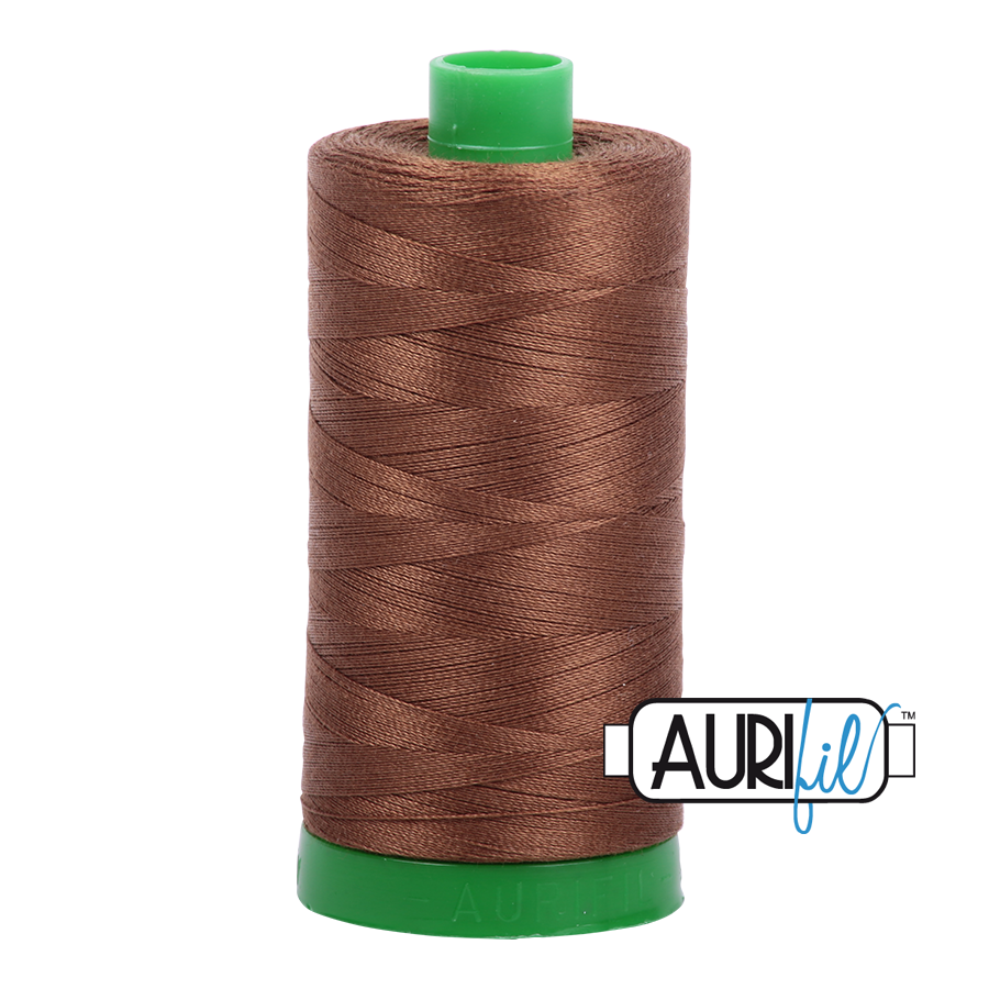 Col. #2372 Dark Antique Gold - Aurifil 40 Weight