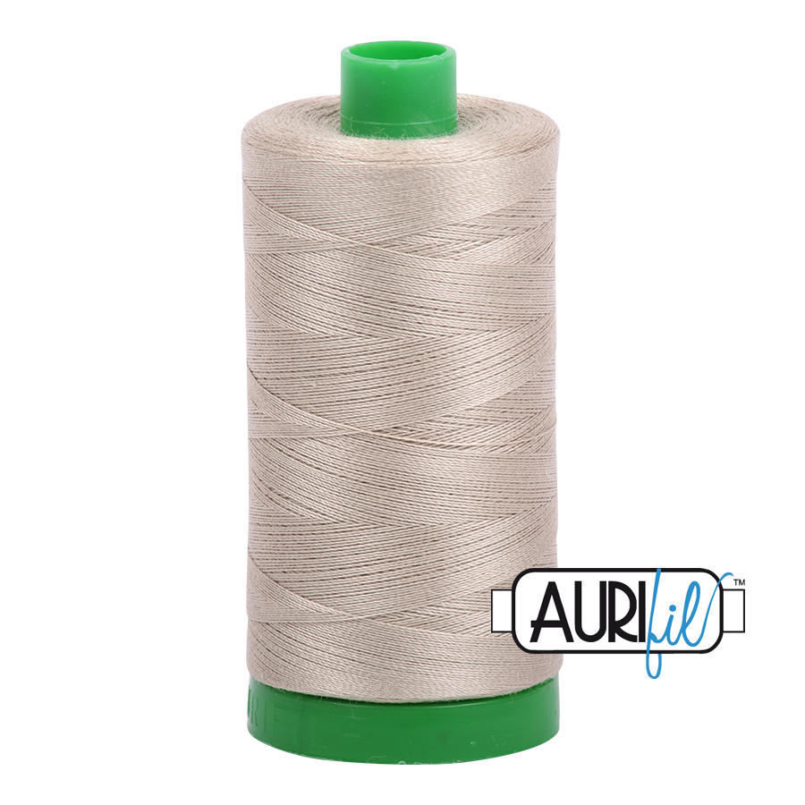 Col. #2324 Stone - Aurifil 40 Weight