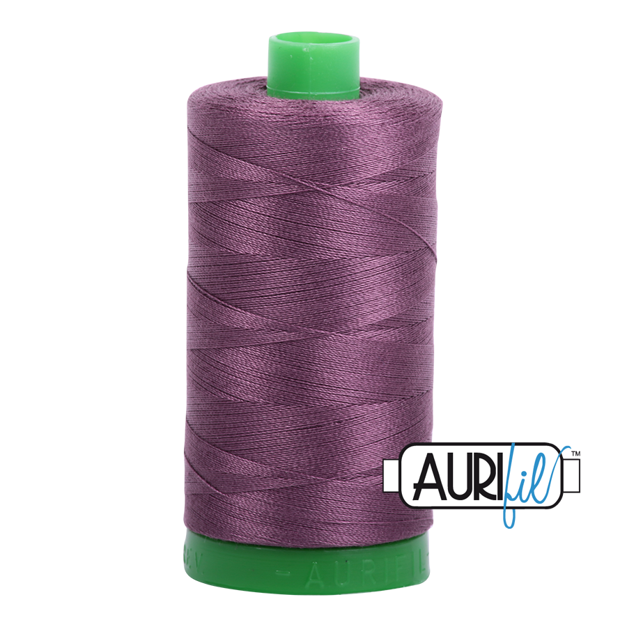 Col. #2568 Mulberry - Aurifil 40 Weight