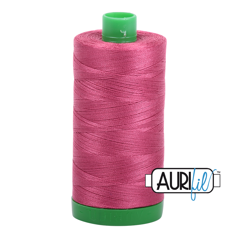 Col. #2455 Medium Carmine Red - Aurifil 40 Weight