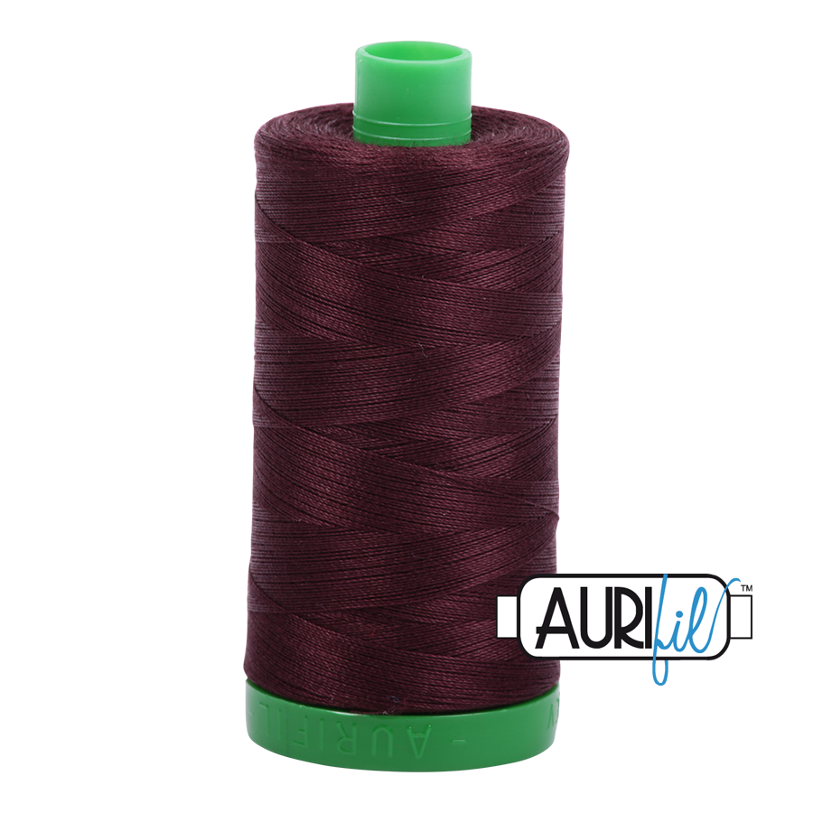 Col. #2468 Dark Wine - Aurifil 40 Weight