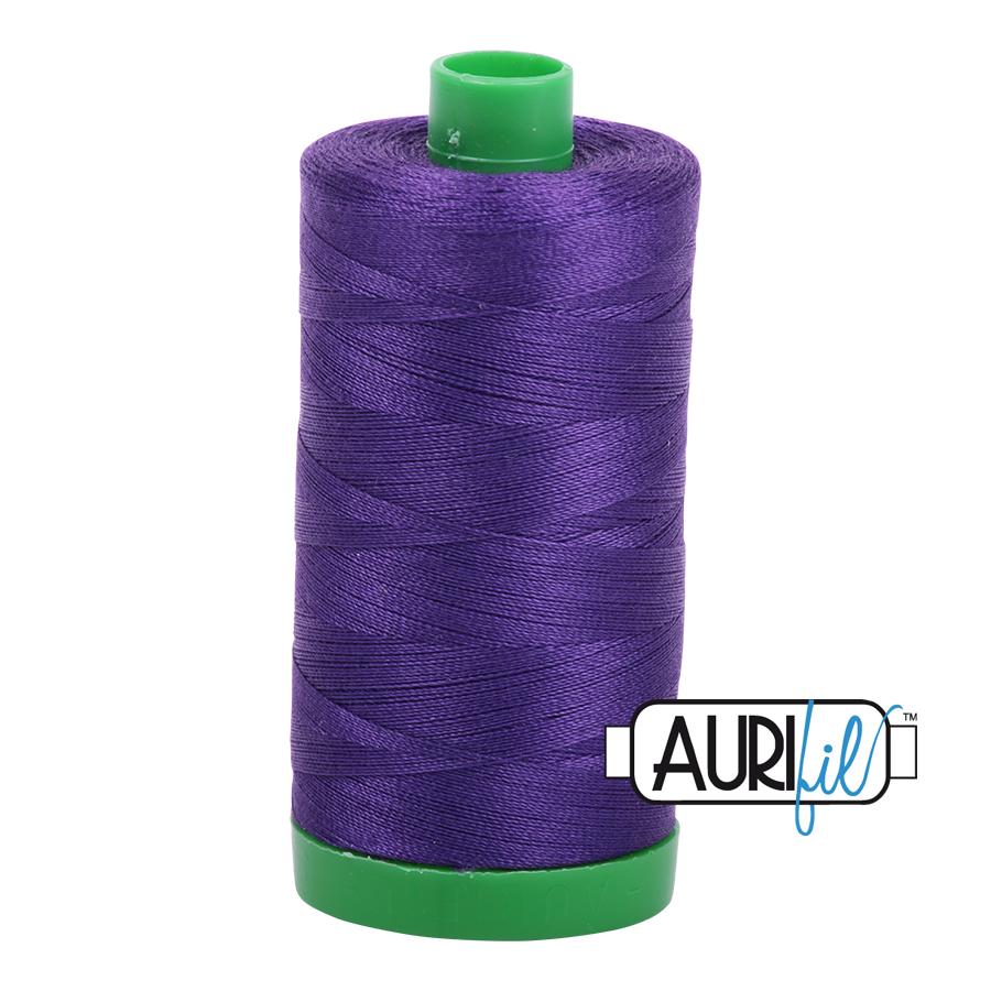 Col. #2582 Dark Violet - Aurifil 40 Weight