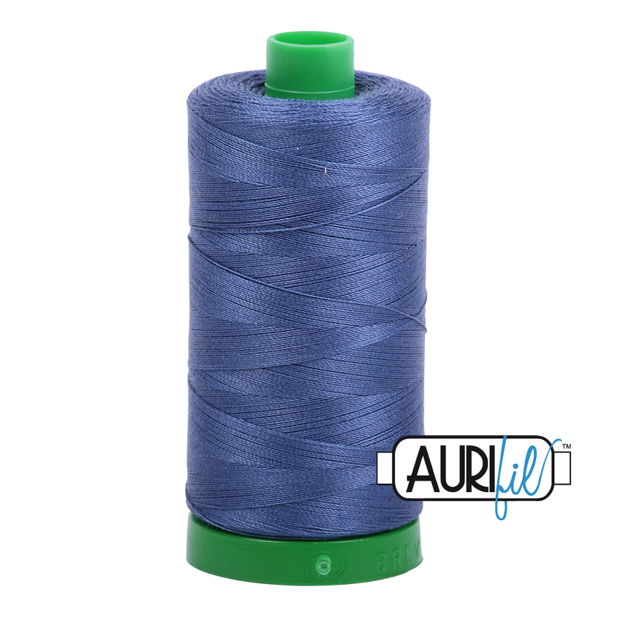 Col. #2775 Steel Blue - Aurifil 40 Weight