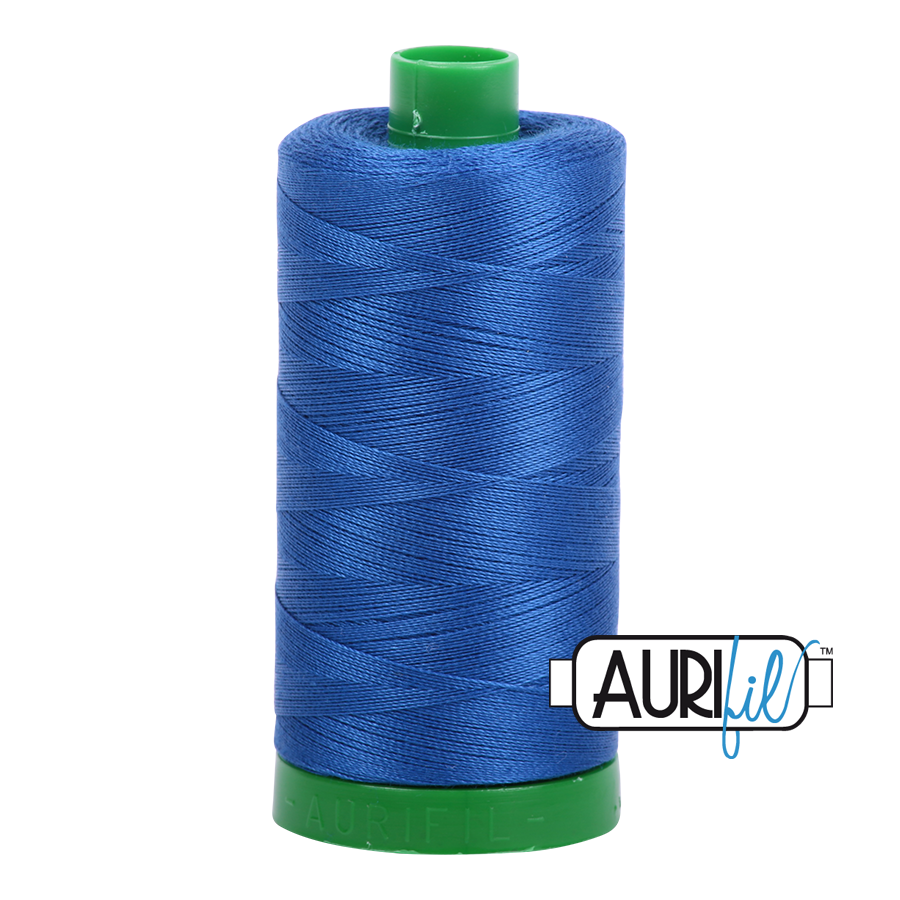Col. #2735 Medium Blue - Aurifil 40 Weight