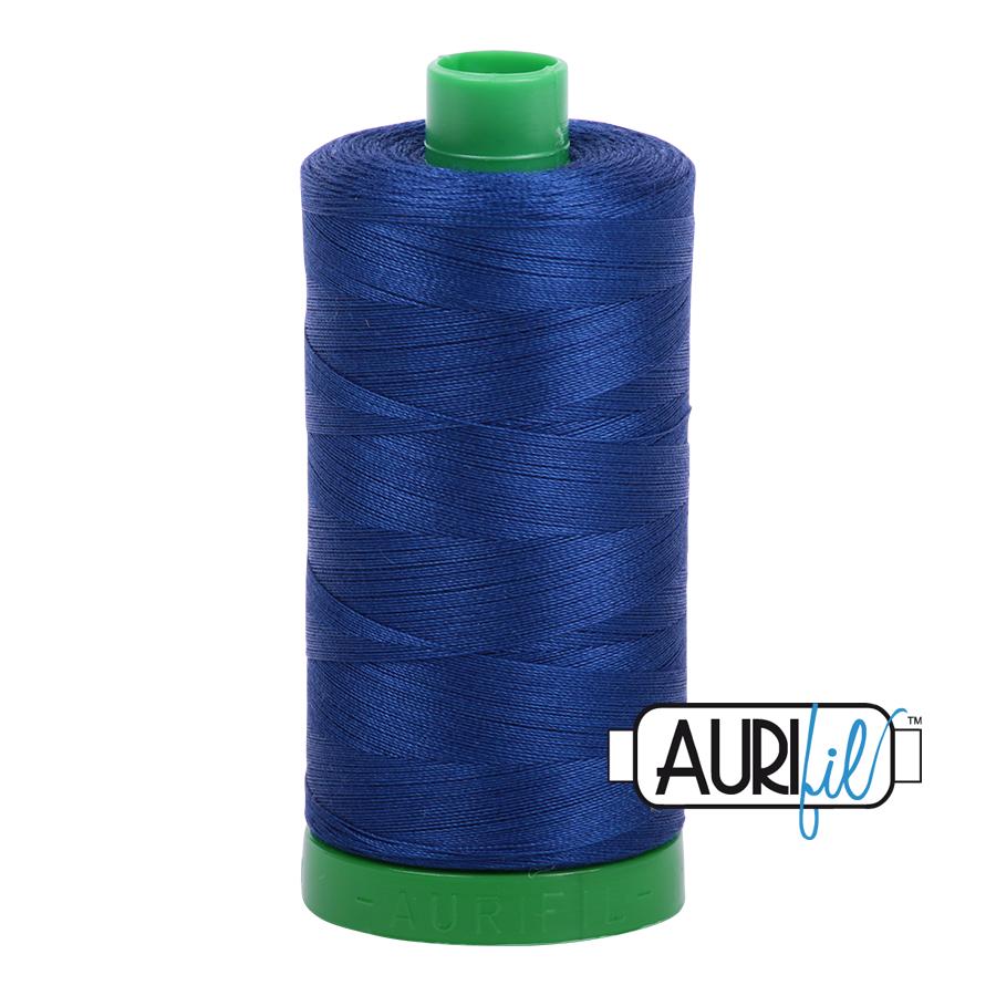 Col. #2780 Dark Delft Blue - Aurifil 40 Weight