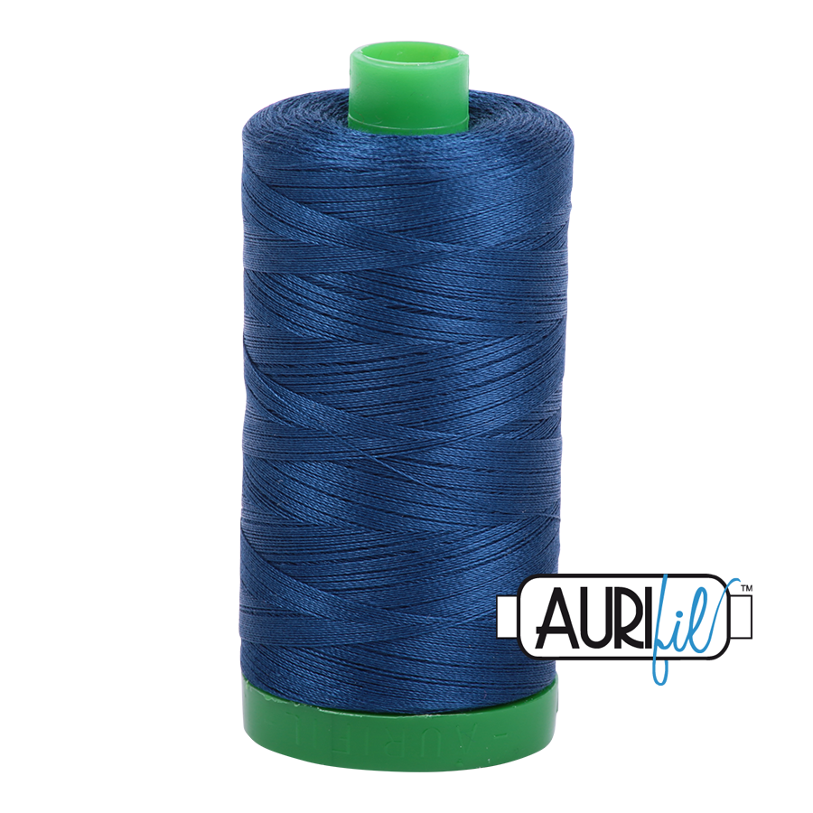 Col. #2783 Medium Delft Blue - Aurifil 40 Weight