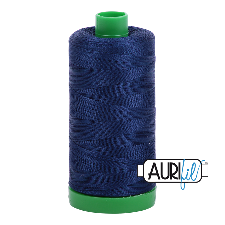 Col. #2784 Dark Navy - Aurifil 40 Weight