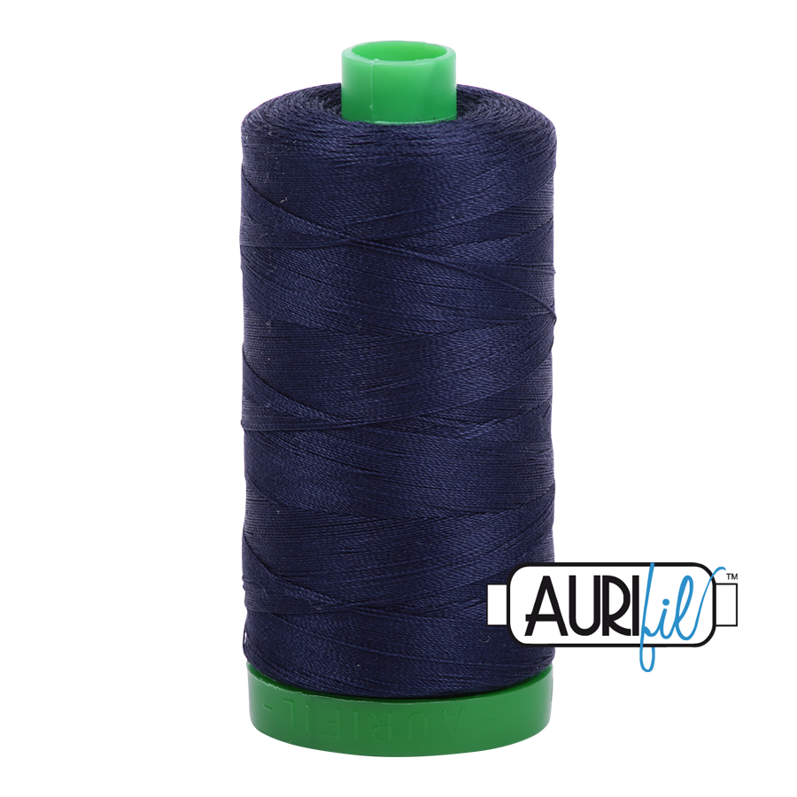Col. #2785 Very Dark Navy - Aurifil 40 Weight